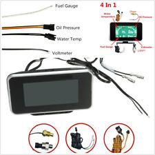 4in1 Dual Color Backlight Digital Volt/Water Temp/Oil Pressure/Fuel Gauge Meter