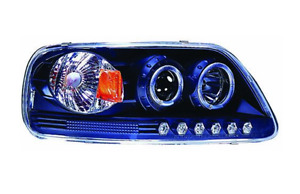 IPCW CWS-541B2 LED Halo Projector Headlights w/Rings Ford Expedition F150 97-03