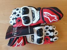 New Alpinestars Athlete-Issue GP Tech Red/White Gloves Size Medium.