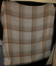 sciarpa grande morbido 142cm x 55 1.3cm Plaid NATURAL BEIGE AVORIO