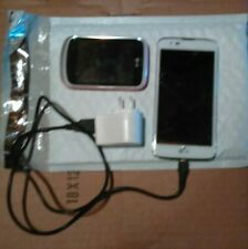 New listing Lot Of 2 Lg Android Smartphones - White and Pink - For Parts Or Repair