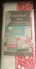 The Peanutshell Mila Changing Pad Cover Farallon Brands (Rn#140877) Coral/White
