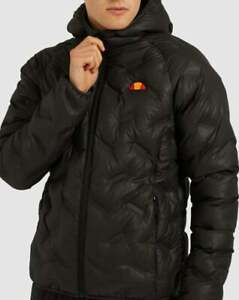 Ellesse Jacket in Black - puffer jacket, puffa jacket, hooded coat SALE XS S M