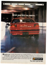 1991 ISUZU Impulse RS Vintage Original Print AD - Red rear car photo canada