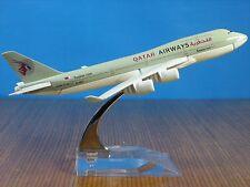 QATAR AIRWAYS BOEING 747 Passenger Airplane Plane Aircraft Metal Diecast Model