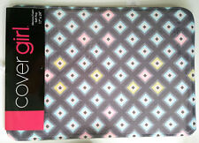 NWT MEMORY FOAM GEOMETRIC DIAMOND BATH MAT GRAY PINK YELLOW AQUA SOFT RUG 17x24