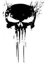 PUNISHER skull BLOOD vinyl decal sticker for car truck wrangler jeep
