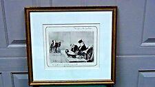 "HONORE DAUMIER(1808-1879) ORIGINAL PRINT ""LES GENS DE JUSTICE"" GILT WOOD FRAME"