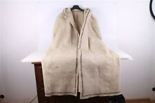 RARE ANTIQUE OLD HAND WOVEN SHEPHERDS HOODED CLOAK, WOOLEN TOP COAT. 18 CENTURY.