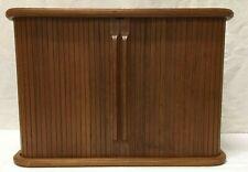 Mid Century Modern Danish Style Eppco Tambour Door Small Wall Cabinet Shelf