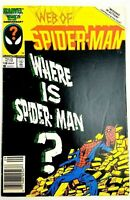 Web of Spider-Man #18 (Sep 1986, Marvel) News Stand Edition Missing in Action