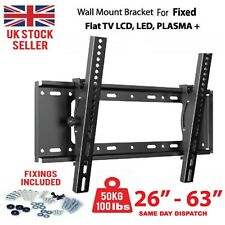TV Wall Bracket Mount Fixed Slim For TV 26 42 50 55 Up To 63 inch LCD LED Plasma
