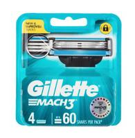 Gillette Mach 3 Blades 4 Pack 60 shaves  New & Sealed