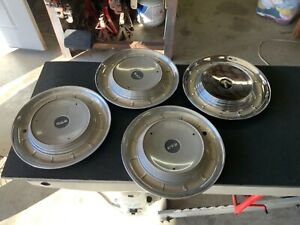 "Vintage Set of 4 (Four) Original Ford Edsel  14"" Hubcaps Wheel Covers"