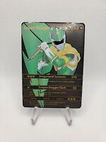 Custom Metal textured Green Power Ranger Card Discount (Misprint Error)