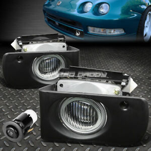 FOR 94-97 ACURA INTEGRA DC DC2 FRONT BUMPER FOG LIGHT LAMP W/BEZEL+SWITCH CLEAR