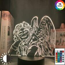 Acrylic Led Night Light My Hero Academia Hawks Anime Lamp Bedroom Decor