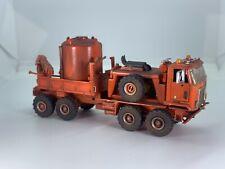 HO 1:87 Custom Herpa Kitbash Oil Rig Service Truck Off Road Oil Well Unit Boley