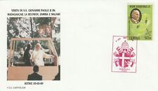 1989 Zambia FDC cover visit Pope John Paul II in Kitwe