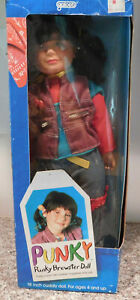 """Vintage Galoob Punky Brewster Soft 18"""" Doll Near Mint with Box"""