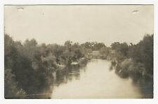 RPPC, Lush vegetation on banks of Kings River, Fresno Co, CA, ca1920s-40s (?)