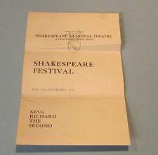 1944 King Richard The Second Shakespeare Festival Theatre Program Stratford Avon
