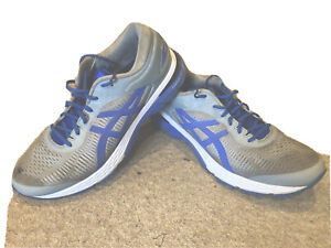 MENS ASICS GEL-KAYANO 25 RUNNING TRAINERS SIZE 10.5 UK Grey and Blue Lite Show