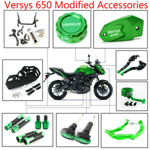 Apricot blossom Fit for Kawasaki Versys 650 2007 2008 2009 Extension Support B/équille Pied lat/éral Pad Support Plaque Color : Gold