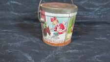 Antique Lovell & Covel Co Pure Hard Candies Red Riding Hood Tin Lithograph Pail