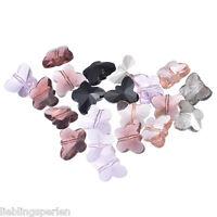 150 Mix Schmetterling Glasperlen Beads 15x12mm für Halskette L/P