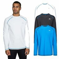 Trespass Burrows Mens Gym T-Shirt Long Sleeved Active Cycling Top Quick Dry