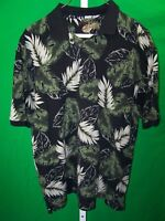 Caribbean Mens Hawaiian, Shirt, Short Sleeve, Floral, Size Large