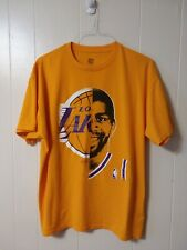 Los Angeles Lakers Magic Johnson T Shirt XL Majestic NBA Hardwood Classics RARE