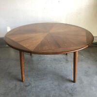 Mid Century Modern Danish Inlaid Wood Coffee Table Vintage MCM
