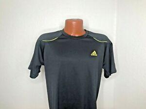 Mens Adidas Techfit S/S Athletic V-Neck T-Shirt Size Medium (M) Gray