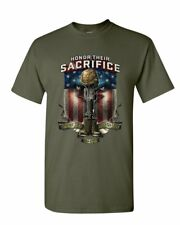 Honor Their Sacrifice T-Shirt POW MIA Military Remembrance Army Mens Tee Shirt