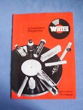 Schallplatten-Pflegemittel Watts empfohlen von Thorens Prospekt von 1974