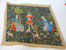 Vintage French Beautiful Scene Tapestry 168X141cm (T1167)