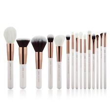 Jessup 15Pcs Flat Foundation Tapered Makeup Brushes set Powder Eyeliner RoseGold