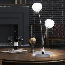 Design Tisch Leuchte Lese Lampe chrom Wohn Raum Beleuchtung Glas Kugel Strahler