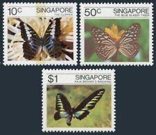 Singapore 387-389,MNH.Michel 393-395. Butterflies 1982.Clipper,Blue grassy tiger