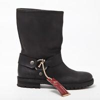 Stivali in pelle Marlboro Classics uomo boots man nero 3010
