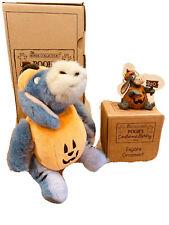 Disney Store Boyds Bear Poohs Costume Party Eeyore Plush Resin Ornament Nib