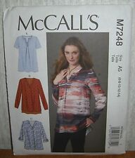 Womens/Misses Loose Fit Pullover Tops Sewing Pattern/McCall's M7248/SZ 6-14/UCN