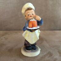 Hummel Baker boy with cake Figurine Goebel Germany 128 bakery chef