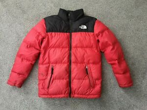 Boys The North Face Red Puffer Down 700 Jacket - Size Large (Age 14/16)