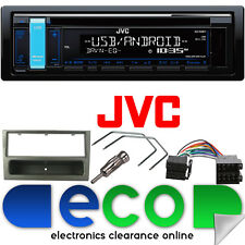 JVC CD MP3 RDS SINTONIZZATORE USB AUX IPOD STEREO AUTO & VAUXHALL AGILA KIT gronda g.metal