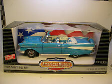 ERTL DIECAST METAL 1:18 SCALE TOUQUOISE 1957 CHEVROLET BEL AIR CONVERTIBLE