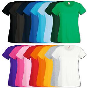 Fruit of the Loom T-Shirt Damen Valueweight Shirts Lady Fit XS S M L XL XXL Neu