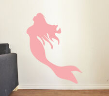 MERMAID WALL DECAL DIY Girls Bedroom Sticker Home Decor Nautical Art Kids